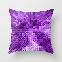 Purple Spires Throw Pillow by Alice Gosling