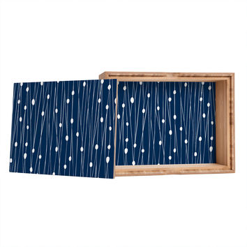 Heather Dutton Navy Entangled Storage Box