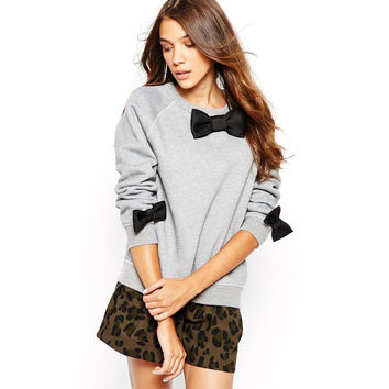 Bow Tie Loose Sweater