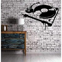 Stencil Turntable House Music DJ Wall Decor Mural Vinyl Decal Art Sticker Unique Gift M560