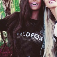 Wildfox Couture Classic Fox Warm Up Sweater in Clean Black