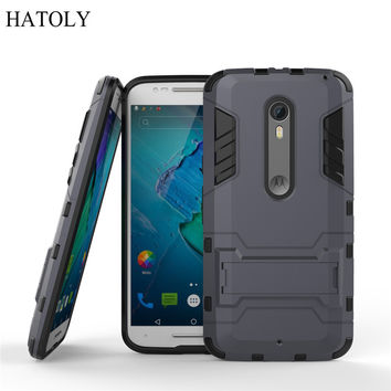 For Motorola Moto X style Case XT1572 XT1570 Slim Phone Case Shockproof Robot Armor Hard Rubber Cover For Moto X Pure Edition (<