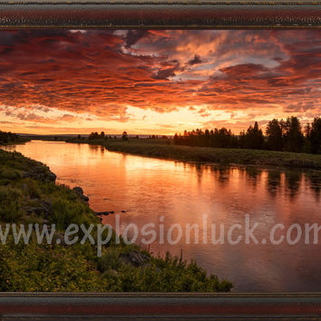 Red Dawn Feng Shui Painting