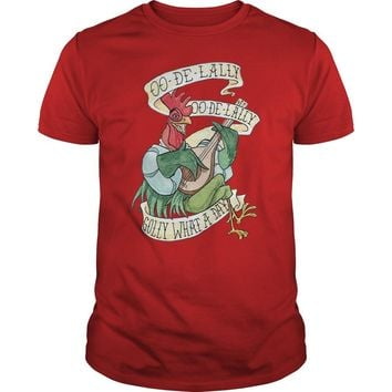 OO-De-Lally golly what a day tattoo watercolor painting Robin Hood shirt Premium Fitted Guys Tee