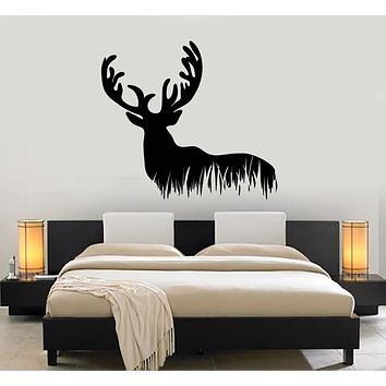 Vinyl Wall Decal Wild Animal Deer Forest Hunting Hobby Stickers Mural (g3028)