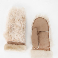 Urban Outfitters - Ecote Faux Fur Mitten