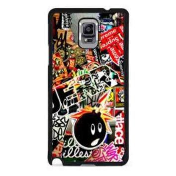 Sticker Bomb Supreme and illest for samsung galaxy note 4 case