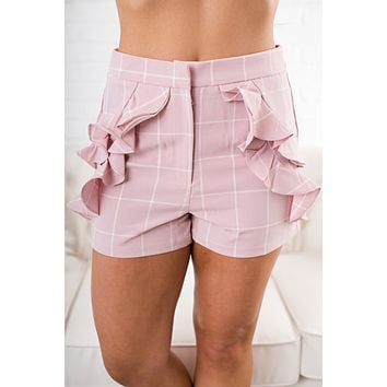 Brantley Ruffle Shorts (Pink)