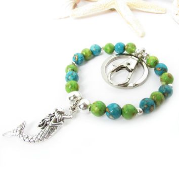 Mermaid Keychain Bracelet