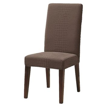 Sure Fit Dining Chair Crocodile Slipcover - Chocolate