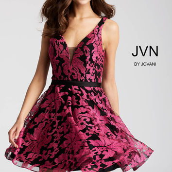 Jovani JVN53382 Printed Dress with Fitted Bodice