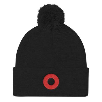 Phish Fishman Red Donut Pom Pom Knit Cap