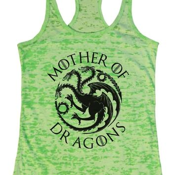 Mother Of Dragons - Game Of Thrones - Burnout Tank Top By Funny Threadz