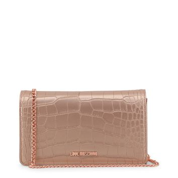 Love Moschino Pink Leather Clutch Bag