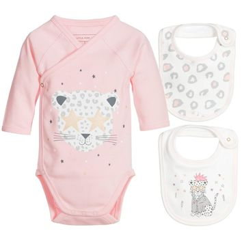 Little Marc Jacobs Baby Girls Romper & Bibs (Gift Set)