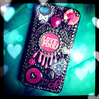 Victorias Secret Inspired Handmade Phone Cover by CocktailStrass