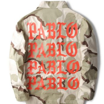 Yeezy Camouflage MA1 Jacket Hoodie Men Kanye West Pablo Hip Hop I Feel Like PABLO Air Force Coat Yeezus Tour Jeans Bomber Jacket
