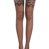 Black Hosiery Pantyhose Tattoo Legging Tights