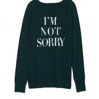 V-Neck I'm Not Sorry Sweater - Designer Knit Sweaters | Pam & Gela