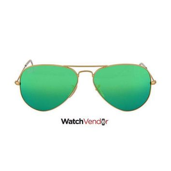 Gotopfashion Ray Ban Original Aviator Green Flash Polorized Sunglasses RB3025 112/P9 58-14