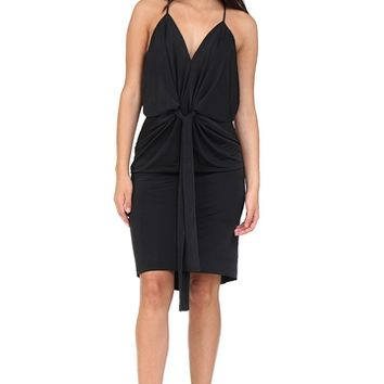 Black Drape Midi Dress at Blush Boutique Miami - ShopBlush.com : Blush Boutique Miami – ShopBlush.com