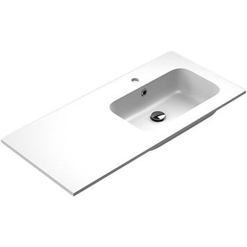 Sonia EVOLVE Washbasin 40 inches Right Single Drop-In Rectangular MX3 Bath Sink