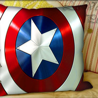 Captain America Shield - Pillow Cover and Pillow Case.