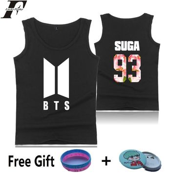LUCKYFRIDAYF BTS K-pop Sleeveless Tank Top Women Summer Casual Bangtan Hip Hop Female Fans Vest Popular Kpop Tank Top Mujeres