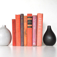 Coral/Pink/Purple Book Collection - Vintage Books Home Decor