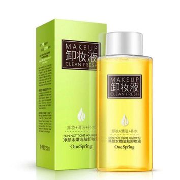 VONE05WA NEW Olive Oil Makeup Remover Refreshing Mild Cleansing Water for Eyes Lip Face Deep Clean Tender Remove Stimulation-Free 150ML