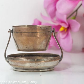 Antique Tea Strainer, Silver Plated Miniature Strainer, Teabag Strainer, English Silver Mark AR, Tea Party Serving