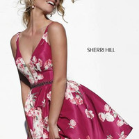 Sherri Hill 32321 Short Floral Prom Dress