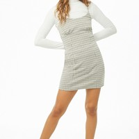 Houndstooth Cami Mini Dress