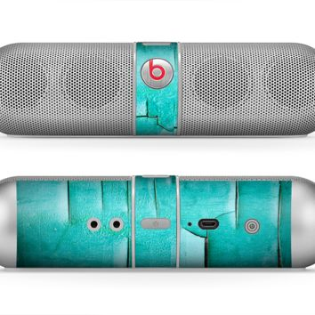 The Peeling Teal Paint Skin for the Beats by Dre Pill Bluetooth Speaker
