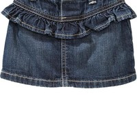 Ruffled Denim Skirts for Baby