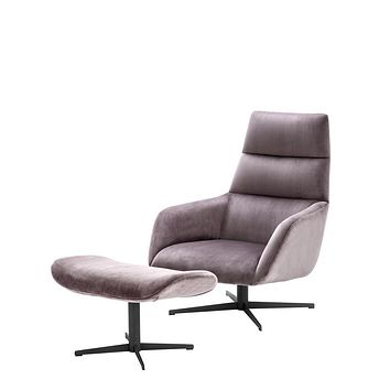 Purple Chair & Ottoman | Eichholtz Nautilus