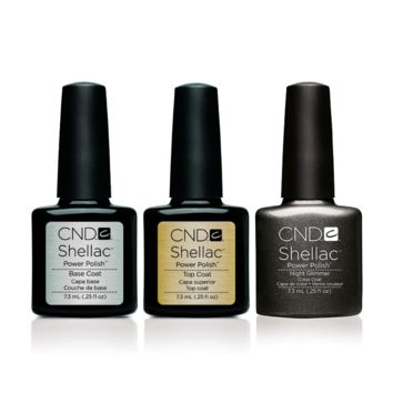 CND - Shellac Combo - Base, Top & Night Glimmer