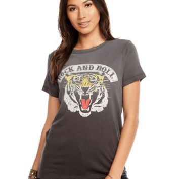 Women's Chaser Brand Rock Tiger Faded Tee
