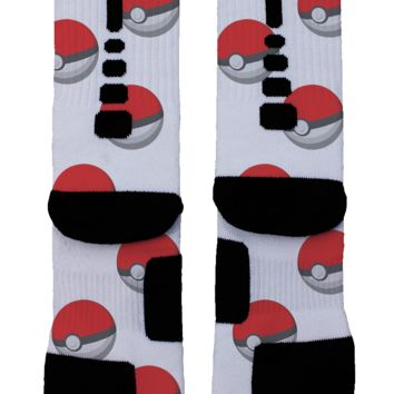 Catch Em All Pokemon Custom Nike Elite Socks