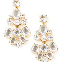 crystal chandelier earrings, clear - kate spade new york