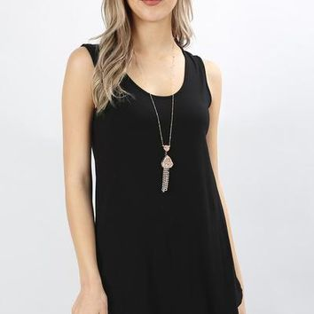 Essential Solid Layering Tunic Tank - More Colors!