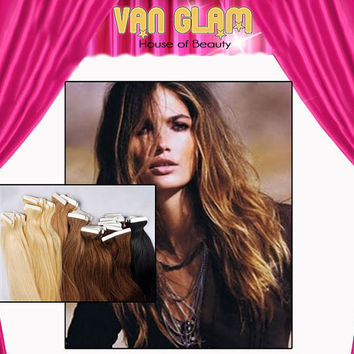 """20"""" Natural Blending Ombre Tape In Hair Extensions"""