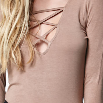 Me To We Lace-Up Long Sleeve Top at PacSun.com