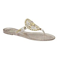 Sparkle Georgica Jelly Sandal in Multi-Color and Gold by Jack Rogers