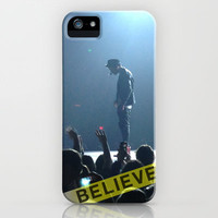 Justin Bieber Believe Tour 2 iPhone Case by Leslee Mitchell