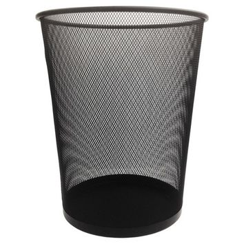 Steel Mesh Trash Can, Black - Room Essentials™