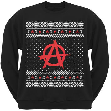 Anarchy Ugly Christmas Sweater Black Adult Sweatshirt