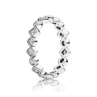 PANDORA Alluring Brilliant Princess Ring - Size 7