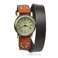 Double Wrap Cow Leather Watch on Luulla