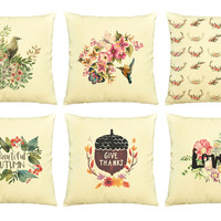 Autumn Festival-100% Cotton Decorative Throw Pillows Cover Cushion Case VPLC_03